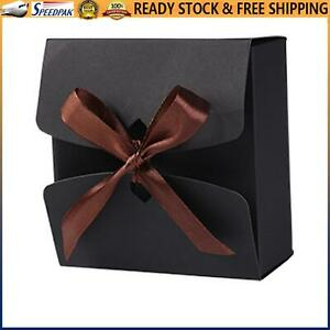 Gift Boxes 10 Packs, Black Cardboard, Presents Package Wrap (12 X 12 X 5cm)
