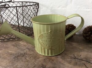 Watering Can Flower Pot Planter Metal Zinc Rustic Style