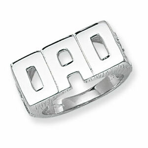 925 DAD Silver Ring Solid Sterling Silver.925 Fathers Day Gift Boxed Any Size