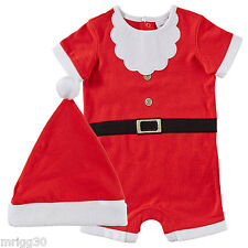 BABY size 000 CHRISTMAS SANTA SUIT with HAT summer NEW  0 -3 mths outfit costume