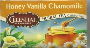Celestial Seasonings Honey Vanilla Chamomile Herbal Tea 20 Tea Bags