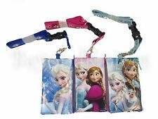 3PC Disney Frozen Anna & Elsa Olaf Lanyard ID Fast Pass Wallet Phone Case Holder