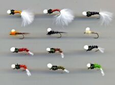 Trout Flies:  Suspended Nymphs & Buzzers: x12 Mixed sizes 10s & 12s  (code 601)