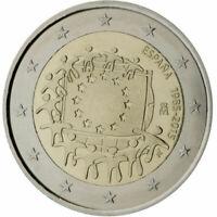 Spain 2015-2 Euro Comm - 30th Anniversary of the European Union Flag . UNC Coin.