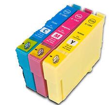 T1282 /3/4 Cyan Magenta YeIlow Ink Cartridge Set For EPSON Printers Non OEM Fox