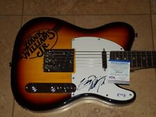Hank Williams jr signed guitar PSA DNA COA AUTOGRAPHED TELE RARE