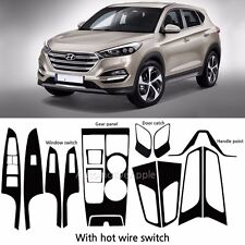Carbon Fabric Door catch Window Switch Decal Sticker For Hyundai Tucson TL