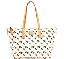 GEORGIA TECH DOONEY AND BOURKE TOP ZIPPER TOTE ALL OVER PATTERN