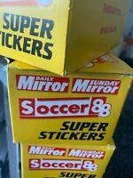 FIFA BOX 1988 SOCCER DAILY MIRROR WITH ROOKIE MARADONA ALEX FERGUSON DALGLISH ?