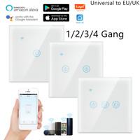 WiFi Smart Light Switch Touch Wireless Remote Control For Alexa Google EU/UK Plu