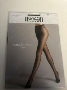 Wolford Satin Touch 20 Tights in Black or Gobi (Nude) New