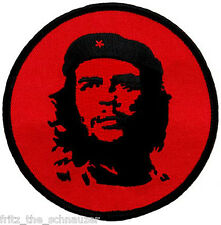 Che Guevara Rebel Embroidered Patch Round Red Star Cuba Revolution Emblem