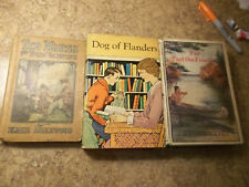 3 Vintage 1920s-1930s Boy's Adventure Story Hardcover Dog of Flanders, Ted Marsh