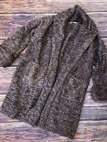 Womens XS Soft Surroundings Chunky Knit Oversized Long Cardigan Sweater