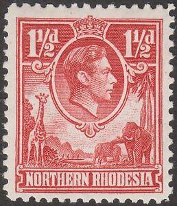 Northern Rhodesia 1941 KGVI 1½d Carmine-Red Mint SG29 cat £50