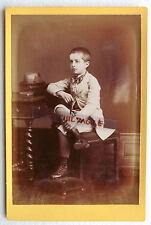 PHOTO CDC CABINET 1889 ENFANT garçon avec canne M883