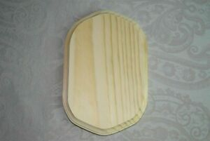 NEW Darice Unfinished 5x7 Arched Rectangle Craft Wood Plaque #9179-63