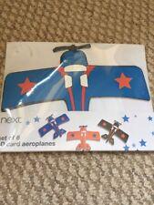 next boy 6 pack 3d aeroplanes card wall art