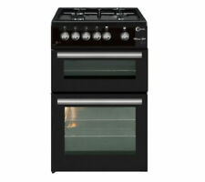 Flavel ML61NDK 60cm Black Gas Twin Cavity Cooker Full