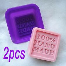 2PCS DIY Silicone Silicon Soap Mold Making Mould Rectangle Stand Hand Made NT5
