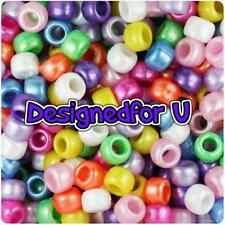 *3 for 2* 100 x Multi Mixed Pearl 9x6mm Barrel Shape Pony Quality Beads