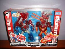 TRANSFORMERS ANIMATED SONS OF CYBERTRON OPTIMUS PRIME & RODIMUS PRIME SET