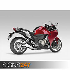 HONDA VFR1200F (1612) Motorbike Poster - Photo Poster Print Art A0 A1 A2 A3 A4