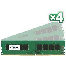 Mémoires RAM Crucial avec 4 modules