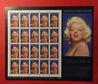 WOW! TWO! 1995 #2967 Marilyn Monroe HOLLYWOOD LEGENDS 2 Sheets,20 each, TOTAL 40