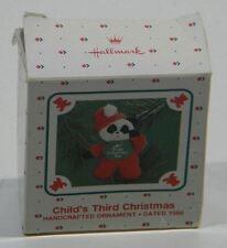 Handcrafted Hallmark Keepsake Ornament Dated 1986 - Panda Child's 3rd Christmas