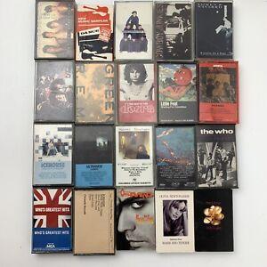 20 Cassette Tape Lot Classic Rock & Roll Pop Alternative