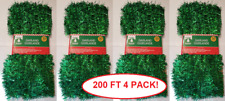 "200 ft. Long Green Christmas 1-1/2"" Thick Tinsel Garland 4 Pack - Free Shipping!"
