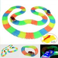 Glow In The Dark Racing Track Rail DIY Assembly Game Toys For Kids 65-300 Pcs