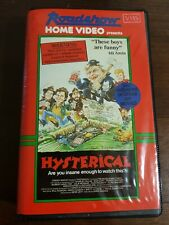 1983 FILM. HYSTERICAL. VHS.CLAMSHELL. ROADSHOW HOME VIDEO. VERY RARE. SPOOF CULT