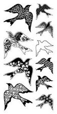 Inkadinkado claro Sellos Con Estampado De Aves 60-30329 10 encantadora Diferentes Aves