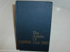 THE ARTICLES OF FAITH 1970 Blue Gold Embossed Cover James E Talmage Mormon LDS