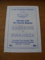 31/01/1989 Caersws v Swansea City [Welsh Cup] . No obvious faults, unless descri