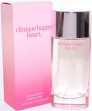 CLINIQUE HAPPY HEART 3.4/3.3 OZ PERFUME SPRAY NEW IN A BOX FOR WOMEN BY CLINIQUE
