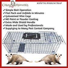 2x TRAP HUMANE POSSUM CAGE LIVE ANIMAL CATCH FERAL CAT RABBIT HARE BIRD BAIT RAT