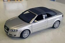 Audi a4 cabriolet softtop amovibles argent 1:18 Norev/AUDI & neuf dans sa boîte