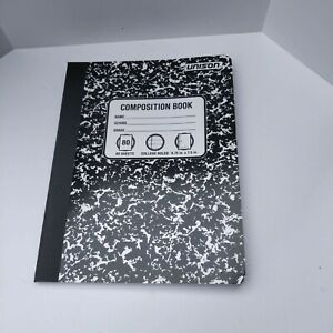 Unison Composition Books/Notebooks, College Ruled Paper, 80 Sheets, 9.75 X 7.5