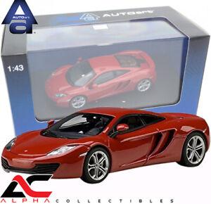 AUTOART 56008 1:43 MCLAREN MP4-12C (VOLCANO RED) SUPERCAR DIECAST MODEL CAR