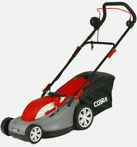 COBRA GTRM38 ELECTRIC LAWNMOWER WITH REAR ROLLER