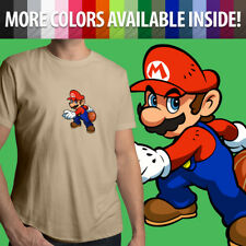 Super Mario Bros Hoops Basketball Nintendo Sports Unisex Mens Tee Crew T-Shirt