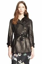 Nordstrom Signature and Caroline Issa Lambskin Leather Trench Coat