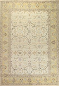 Geometric Sultanabad Oriental Area Rug Hand-knotted Wool Large Carpet 10x14 ft