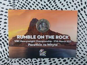 Gibraltar £2 Pound Coin Rumble On The Rock ( Colour) Bunc
