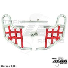 Yamaha Raptor 660 YFM660  Nerf Bars   Alba Racing  Silver Red 203 T1 SR