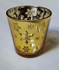 Yankee Candle Christmas AW15 Gold Snowflake Votive Holder NEW