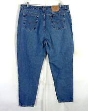 vtg 80s 90s Levis 522 Tapered Fit / Leg USA Made High Waist Denim Mom Jeans 24 L
